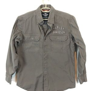 Harley Davidson Vented Long Sleeve Wings Shirt M